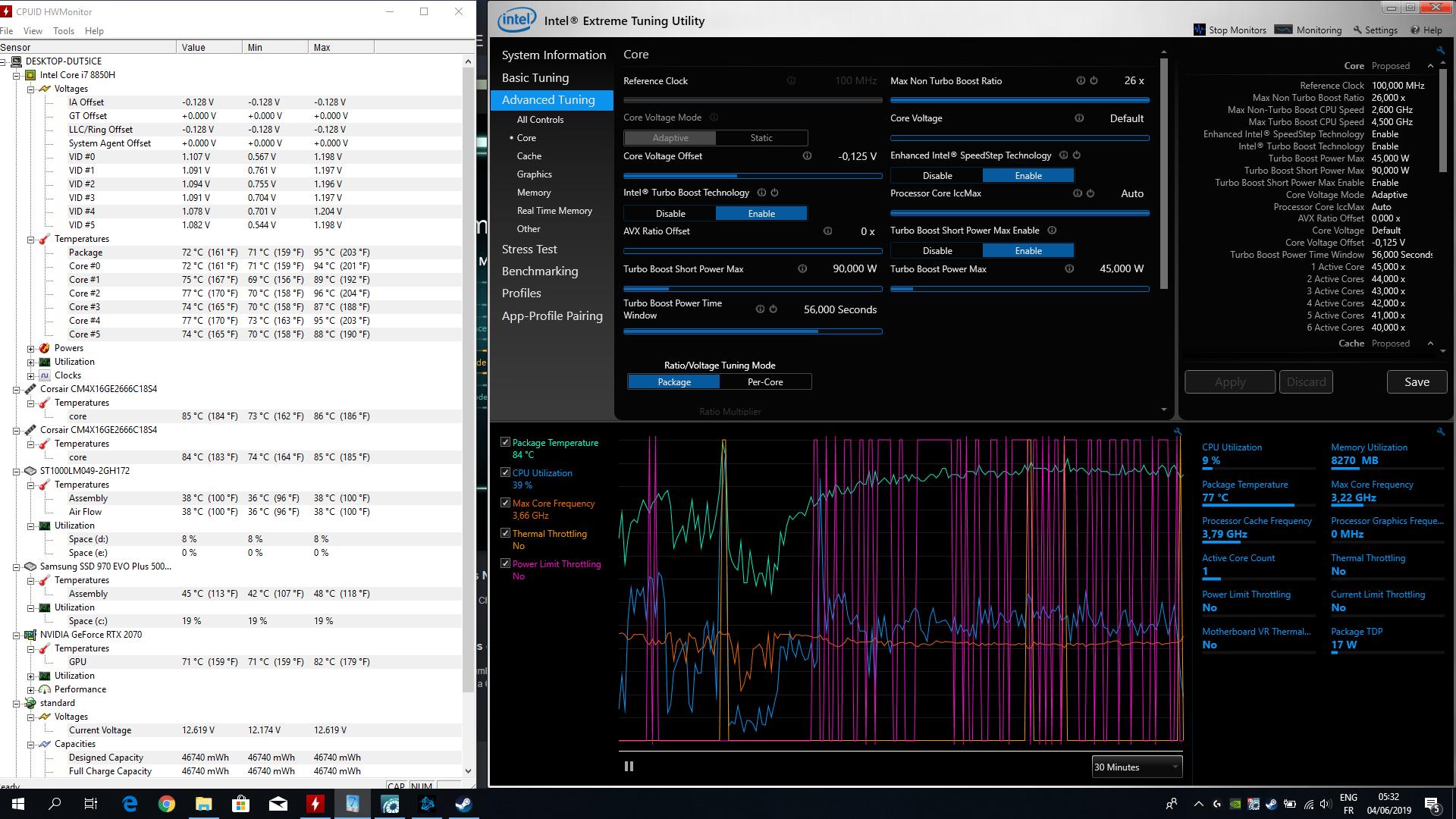 RECOIL III - i7-9750h & 2070 RTX : Temps problem | PCSPECIALIST