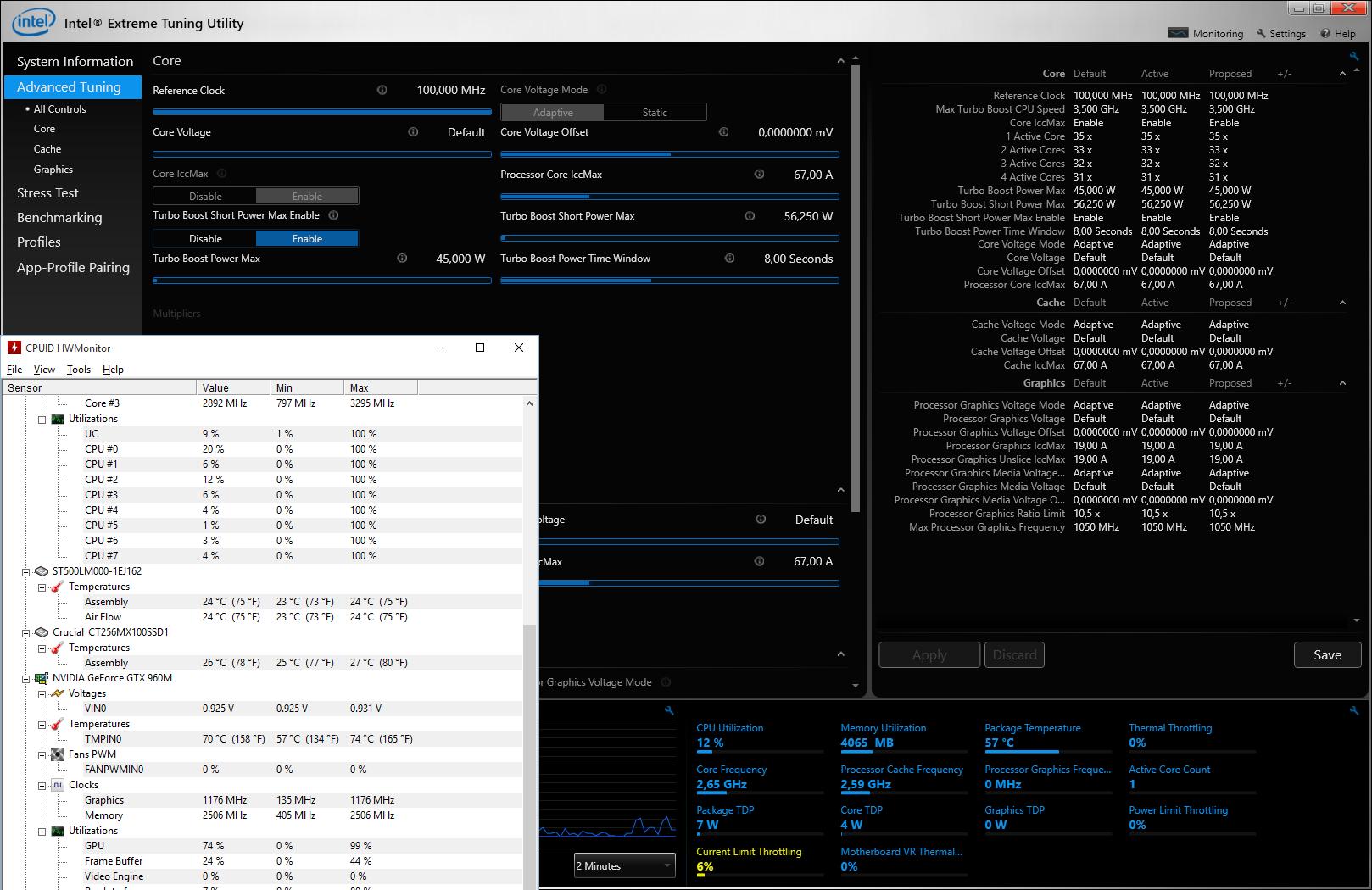 Optimus VII i7-6700HQ CPU excessive throttling, no